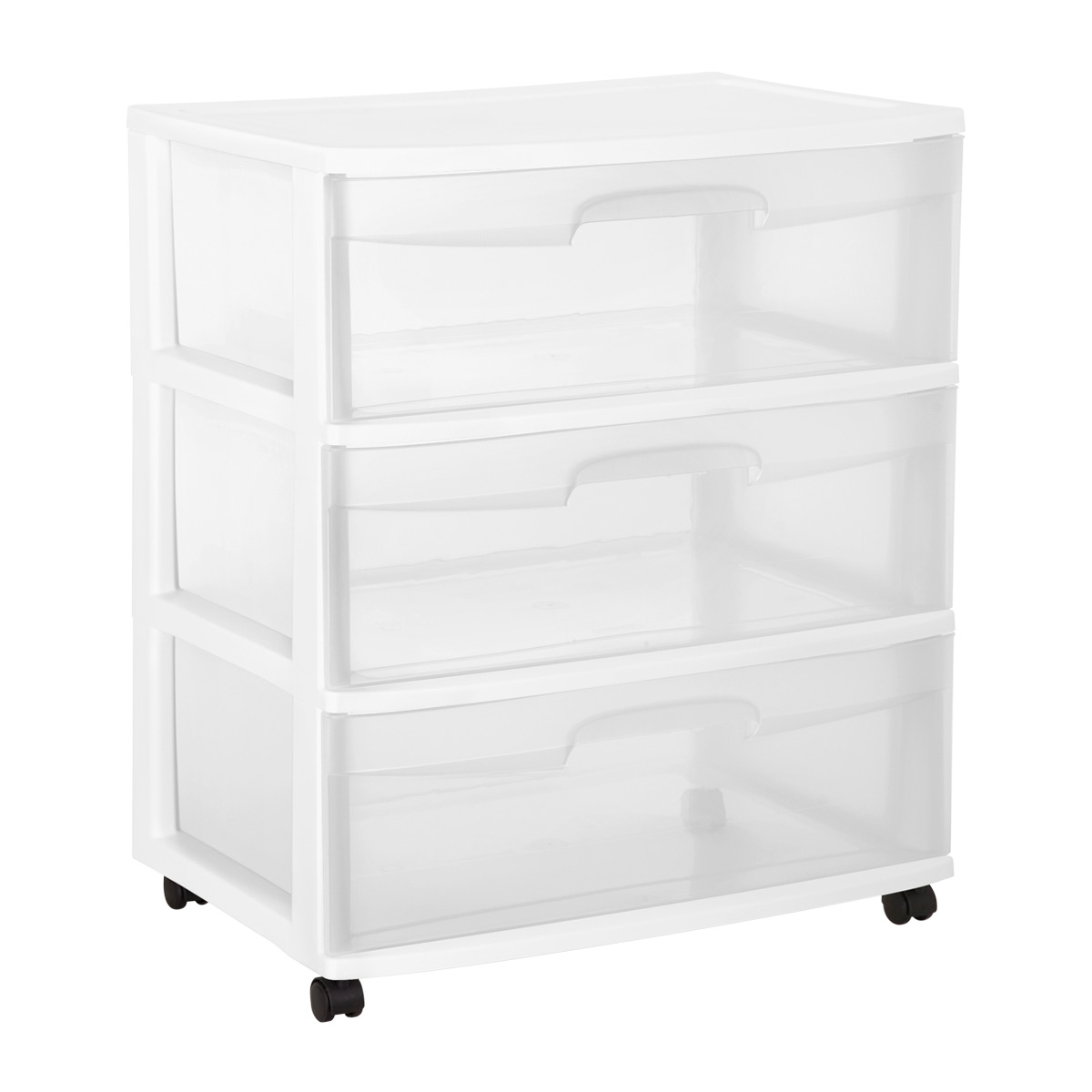 Sterilite Wide 3 Drawer Chest With Wheels