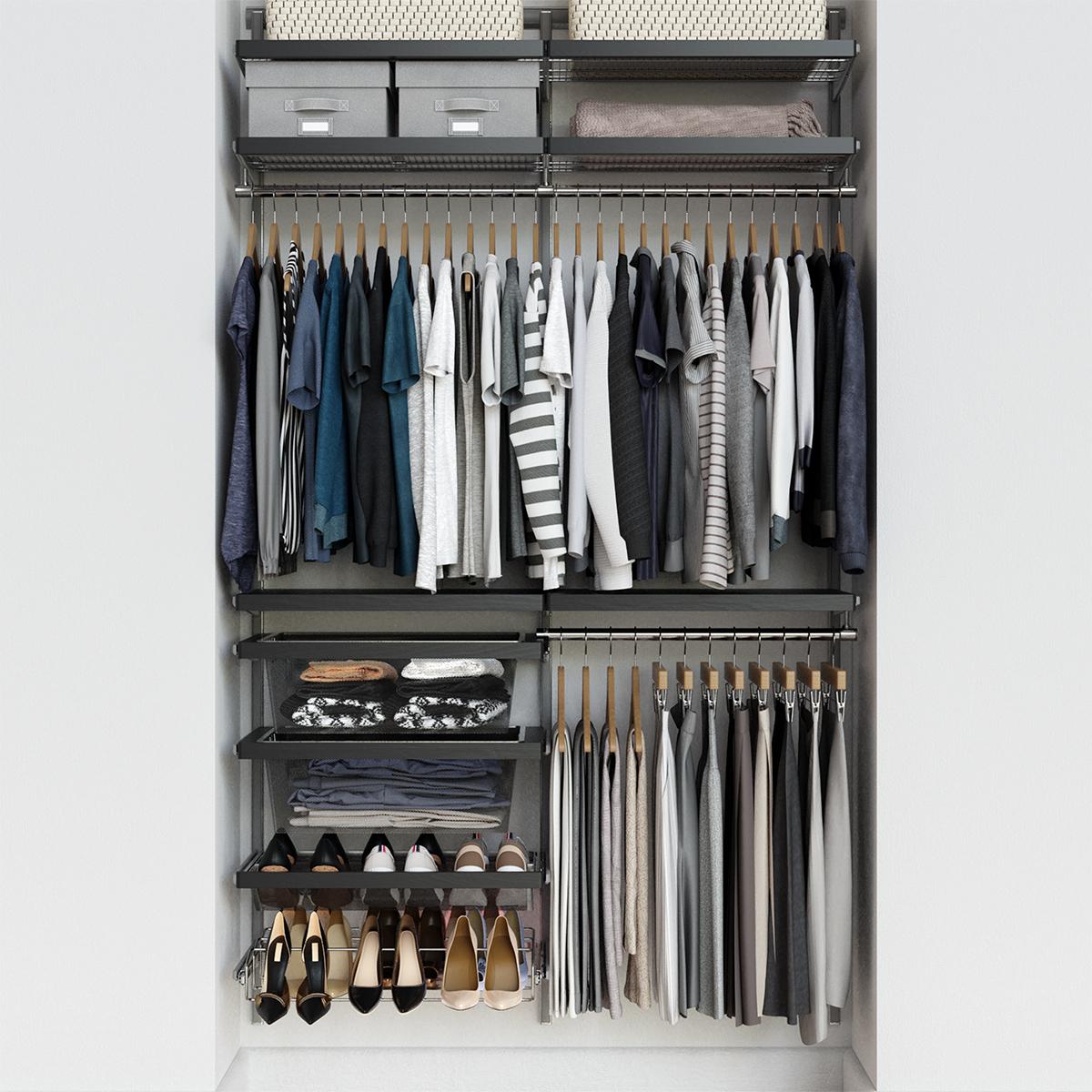Elfa Decor 4 Grey Platinum Reach In Closet