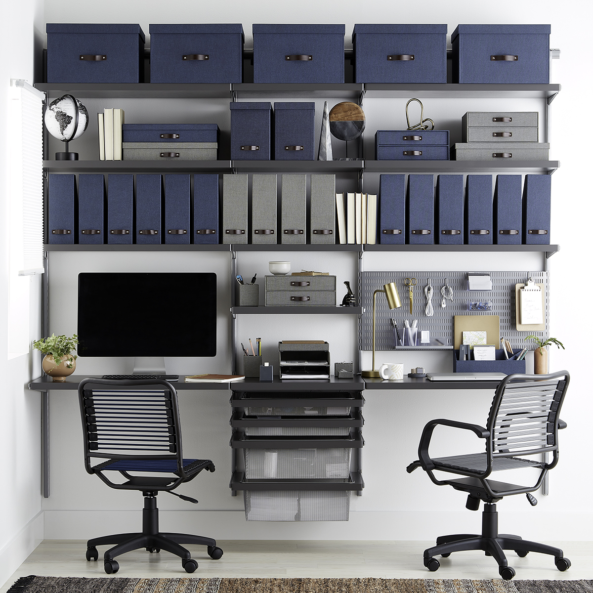 Picture of: Elfa Decor 8 Grey Office The Container Store