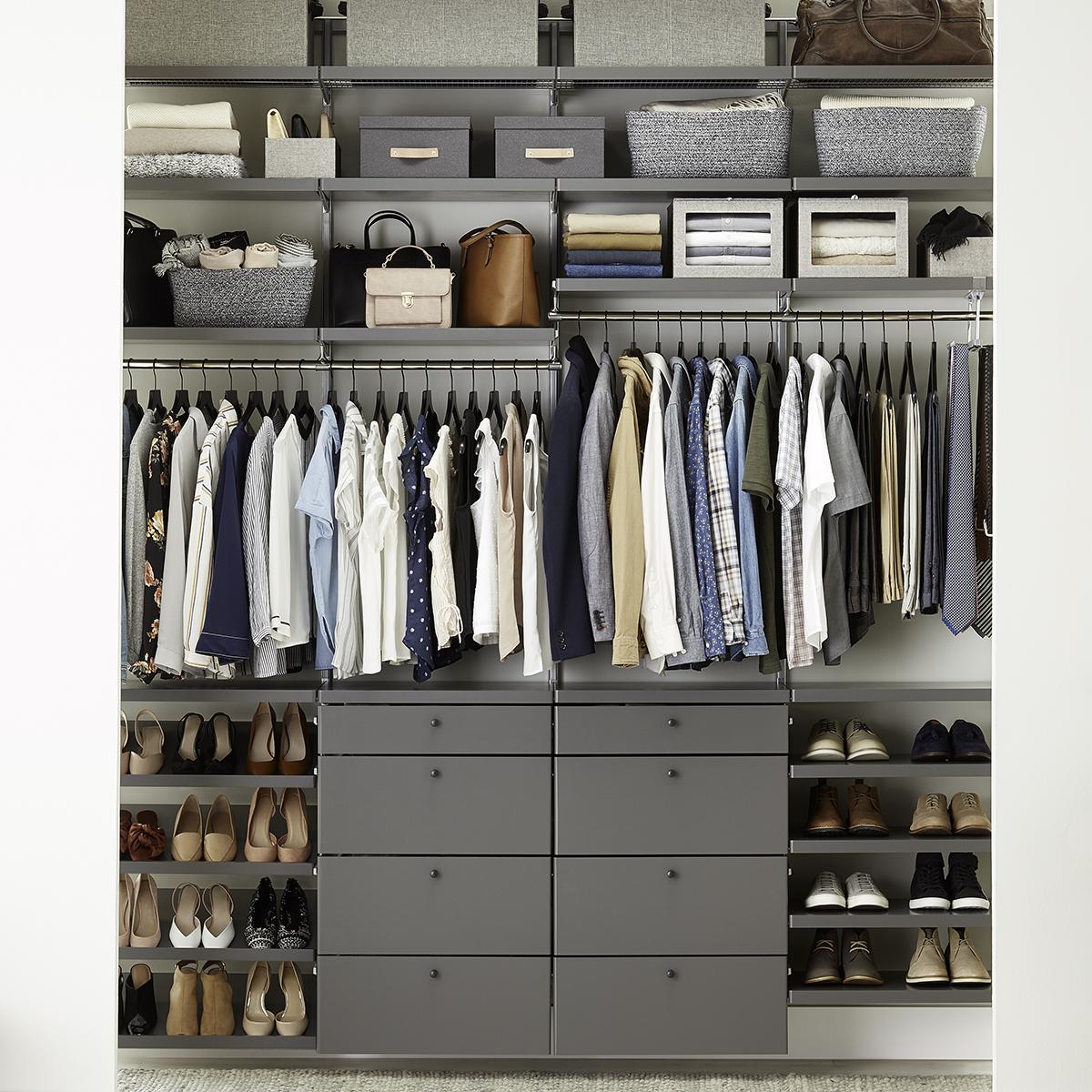 Elfa Decor 8 Grey Platinum Reach In Closet