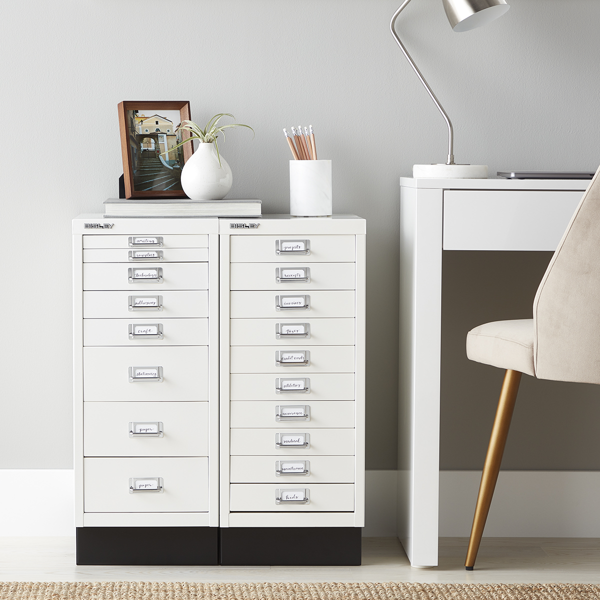 Picture of: Bisley White 8 10 Drawer Collection Cabinets The Container Store