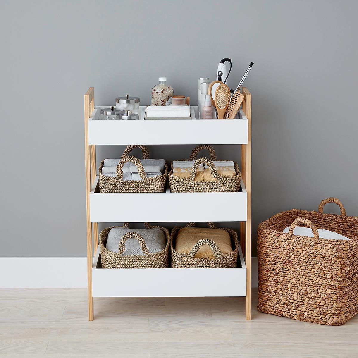 White Multi Purpose 3 Tier Shelf The