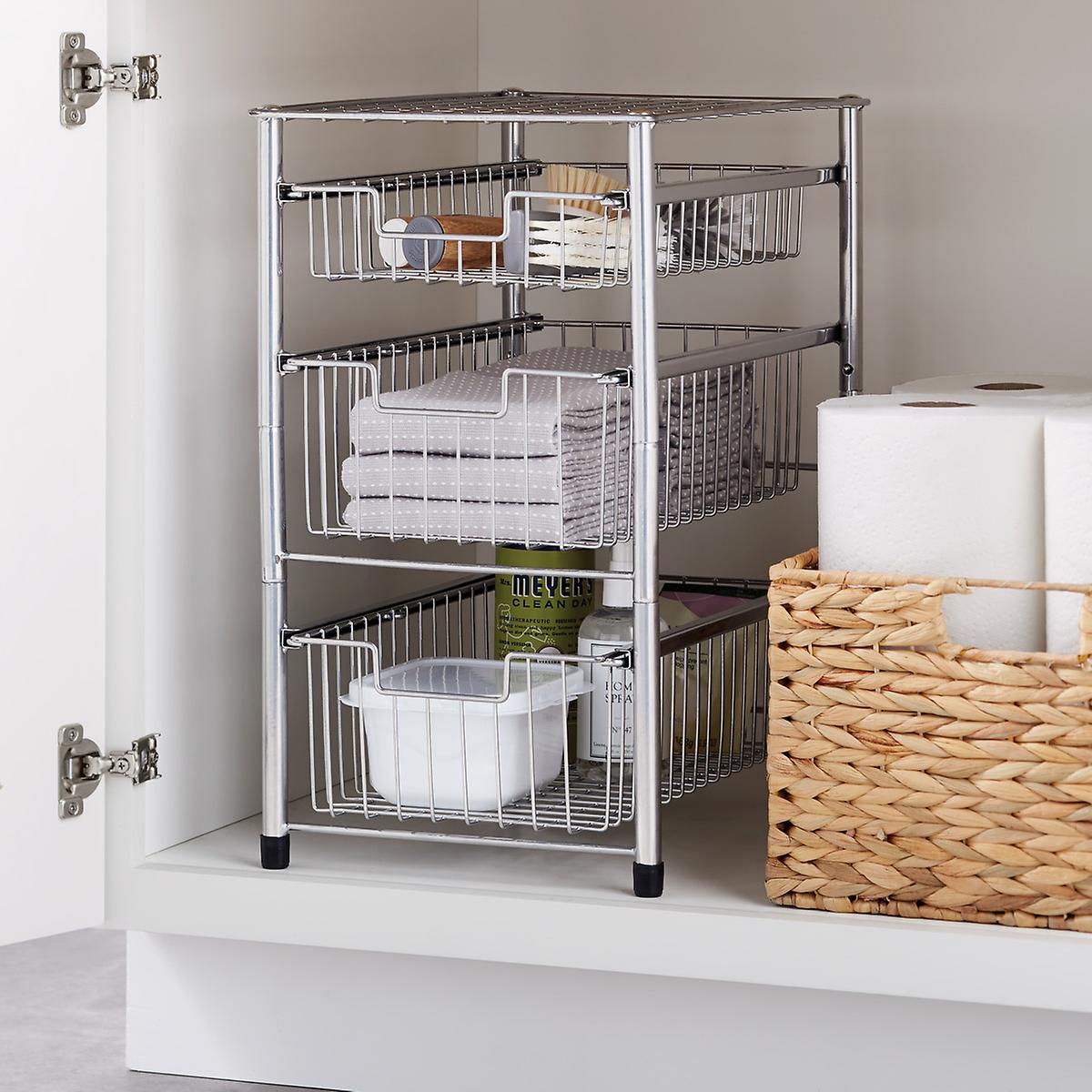 Wire Pull Out Cabinet Organizers The