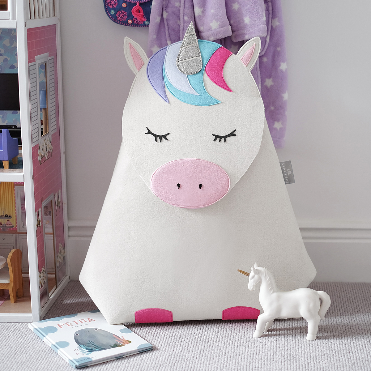 Little Stackers Lola Unicorn Hamper The Container Store