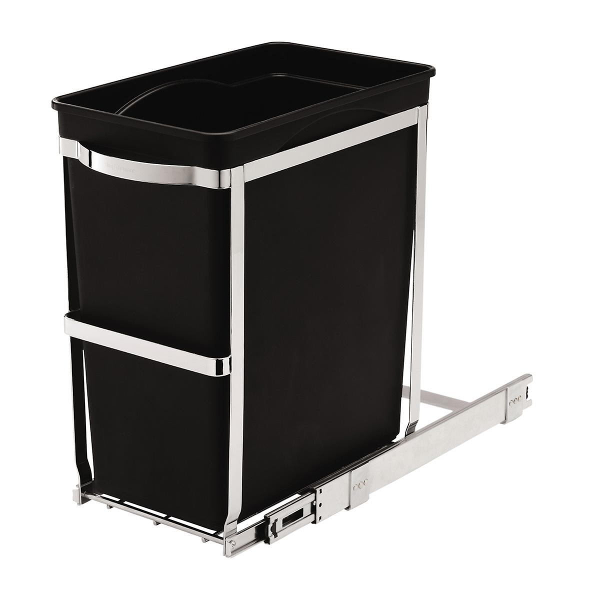 Simplehuman Black 8 Gal Under The Counter Pull Out Trash Can