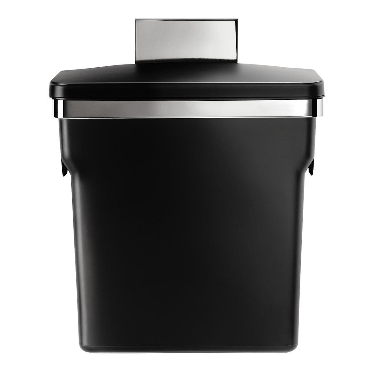 simplehuman Black In-Cabinet 2.6 gal. Trash Can