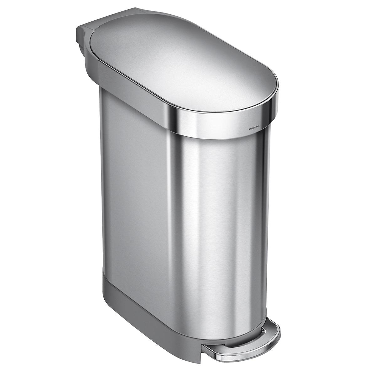 Simplehuman Stainless Steel 12 Gal 45l Step Trash Can The Container Store