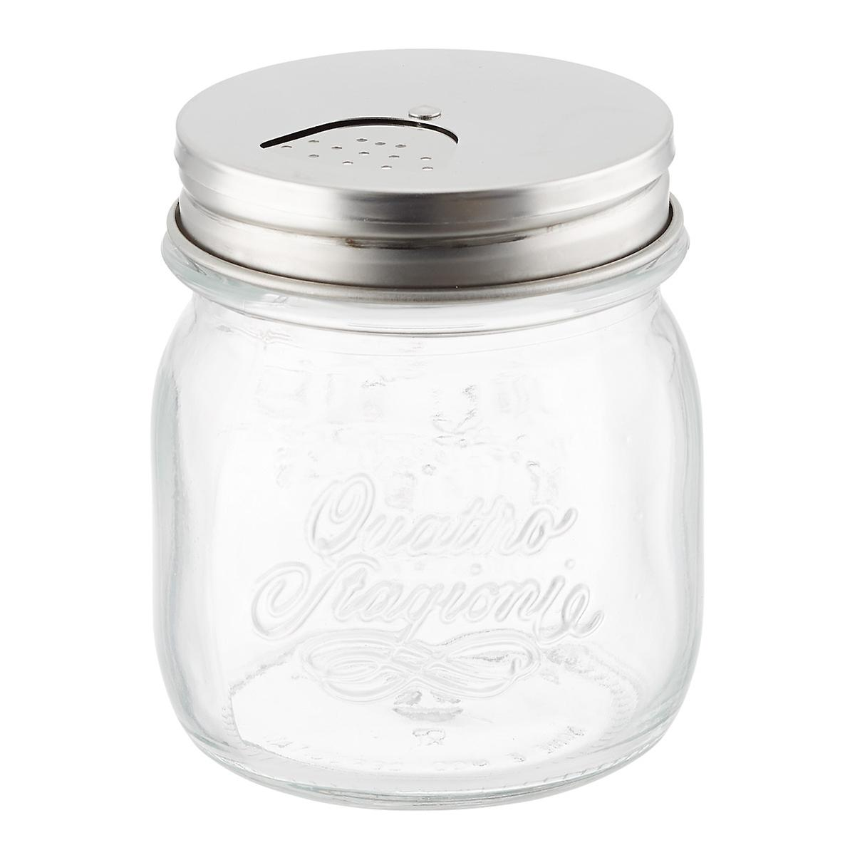 Quattro Stagioni 8 5 Oz Glass Storage Jar With Shaker Lid The Container Store