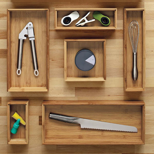 Bamboo Drawer Organizer Stackable Bamboo Drawer Organizers The Container Store