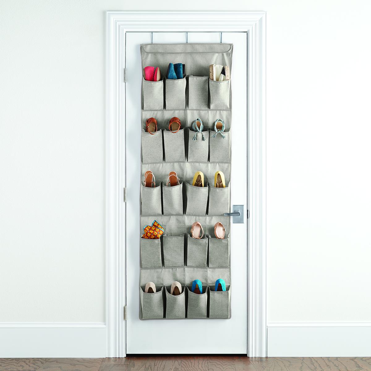 Eco Fabric Over The Door Shoe Bag