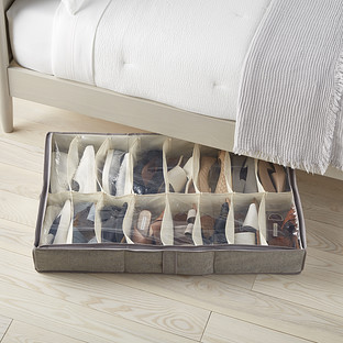 Shoes Organizer Box Rack Under Bed Container For 12 Pairs Closet Fabric Durable