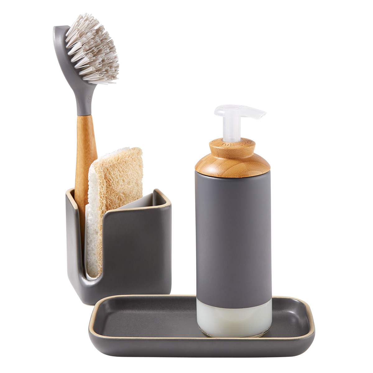 Full Circle Modular Ceramic Sink Caddy The Container Store
