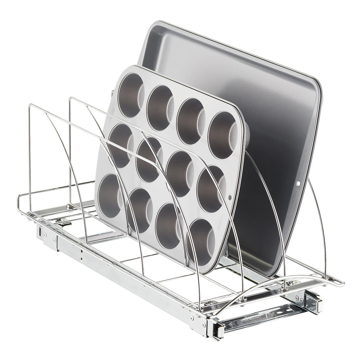 Lynk 21 Chrome Pull Out Bakeware Organizer The Container Store