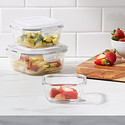 Borosilicate Glass Square Food Storage