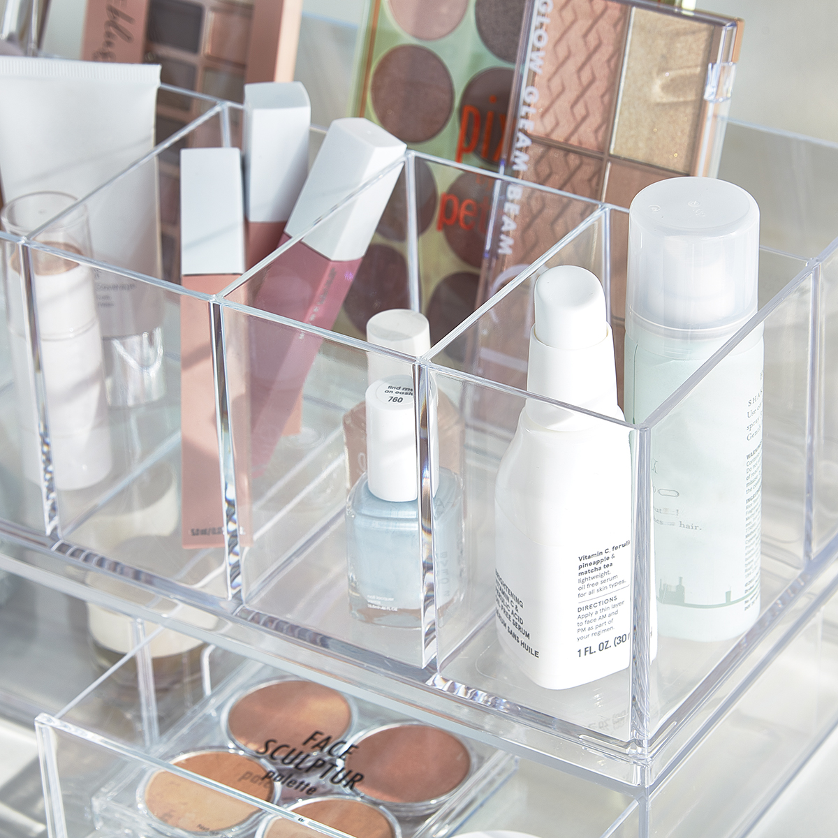 Idesign Clarity Cosmetics Vanity Organizer The Container Store