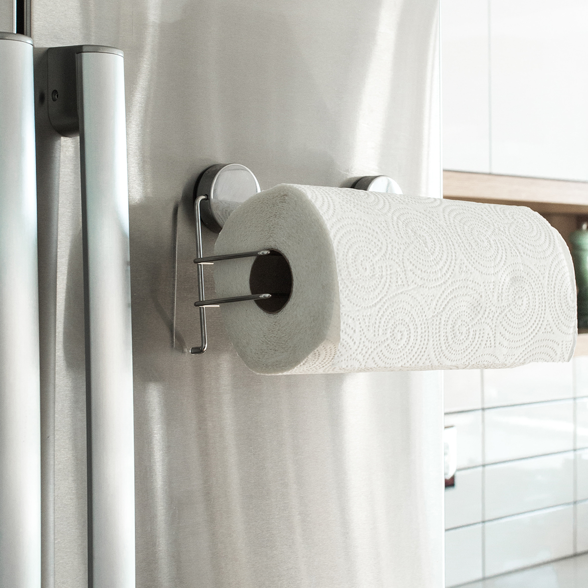 Magnetic Stainless Steel Paper Towel Rack The Container Store