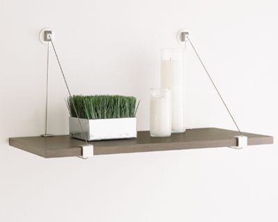 cable shelf brackets the container store rh containerstore com cable suspended wood shelves
