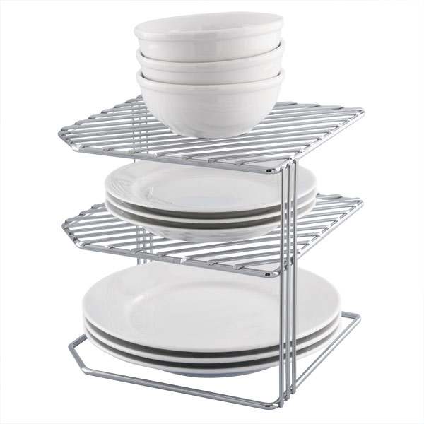 Double Corner Shelf Chrome