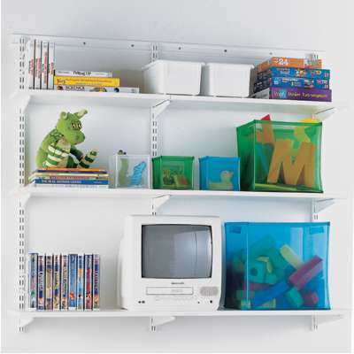 White elfa Shelving