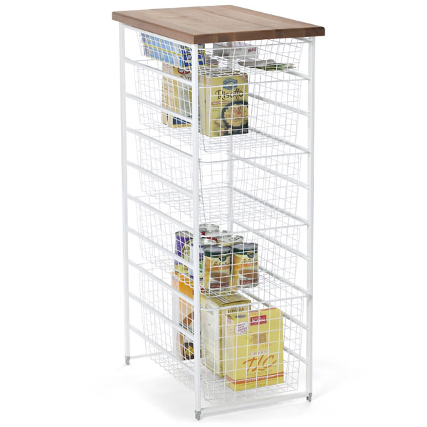White elfa Pantry Storage