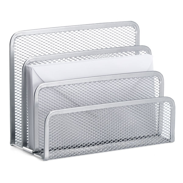 Wonderful Silver Mesh Letter Holder | The Container Store CO98