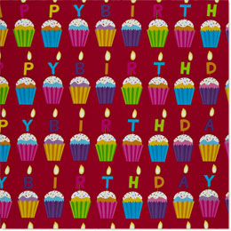 Birthday Cupcakes Wrapping Paper