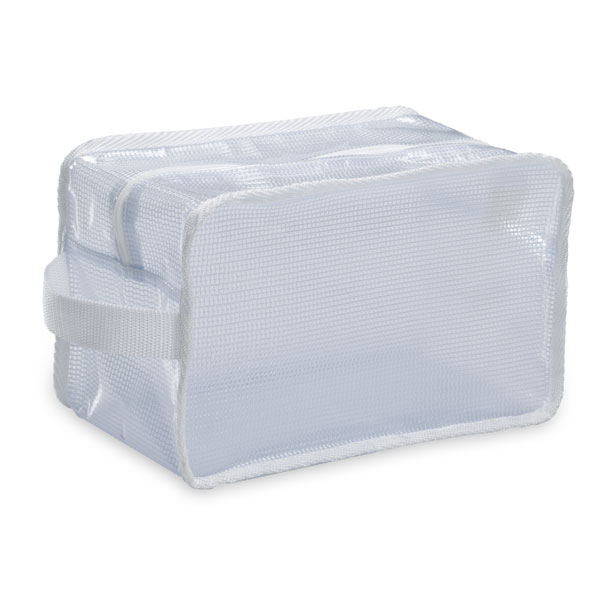 Vinyl & Mesh Toiletry Kit Translucent
