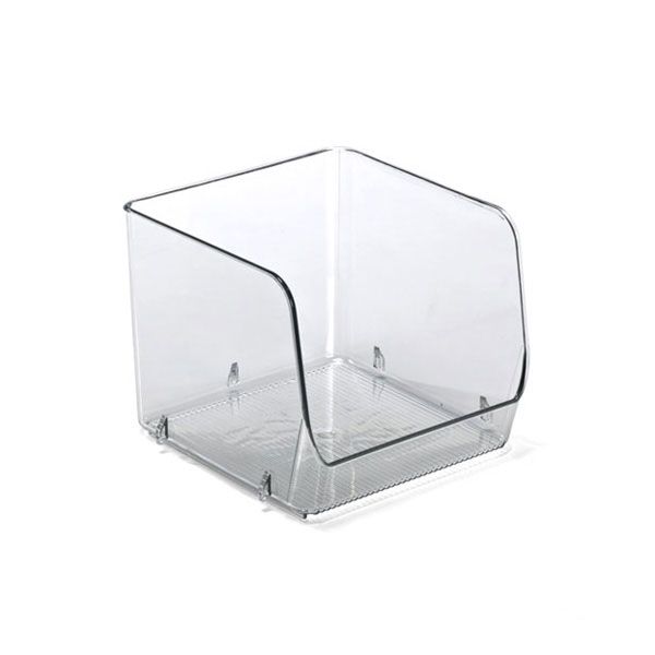 Linus™ Medium Stacking Bin Clear