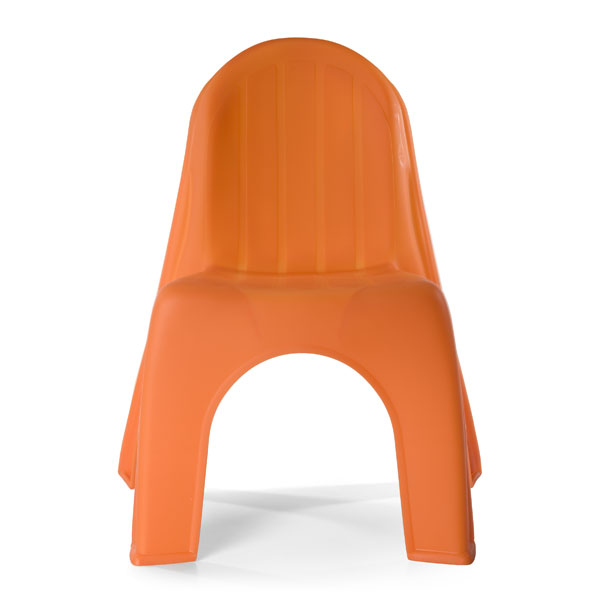 Orange Plastic Chair kid's chair - plastic kid's chair | the container store