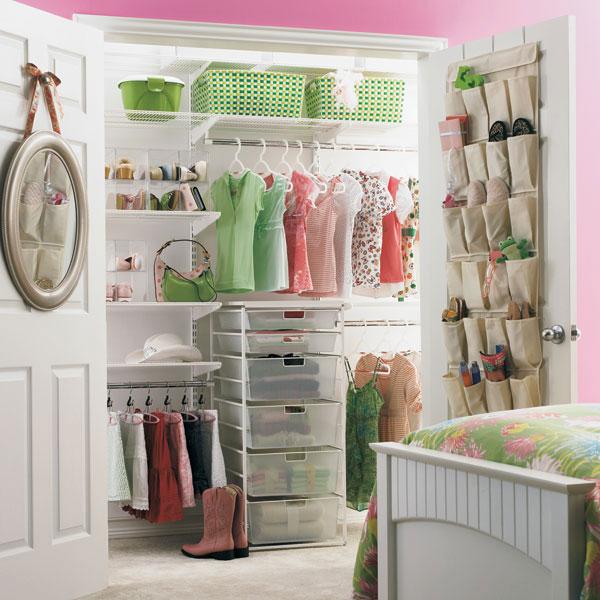 White Elfa Girls Reach In Closet