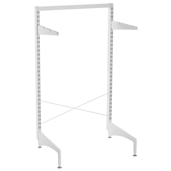 White elfa freestanding Stabilization Kit | The Container Store