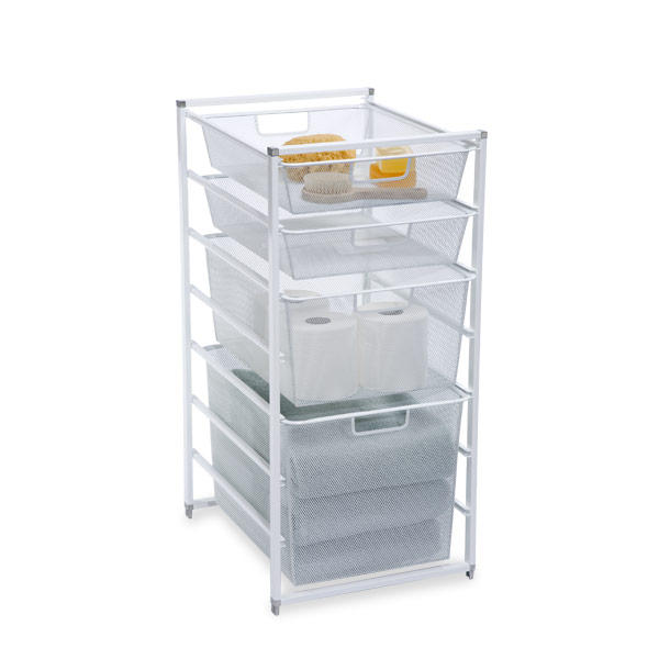 Cabinet-Sized elfa Mesh Bath Drawers