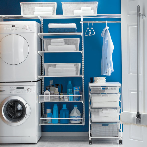 White elfa Laundry Room
