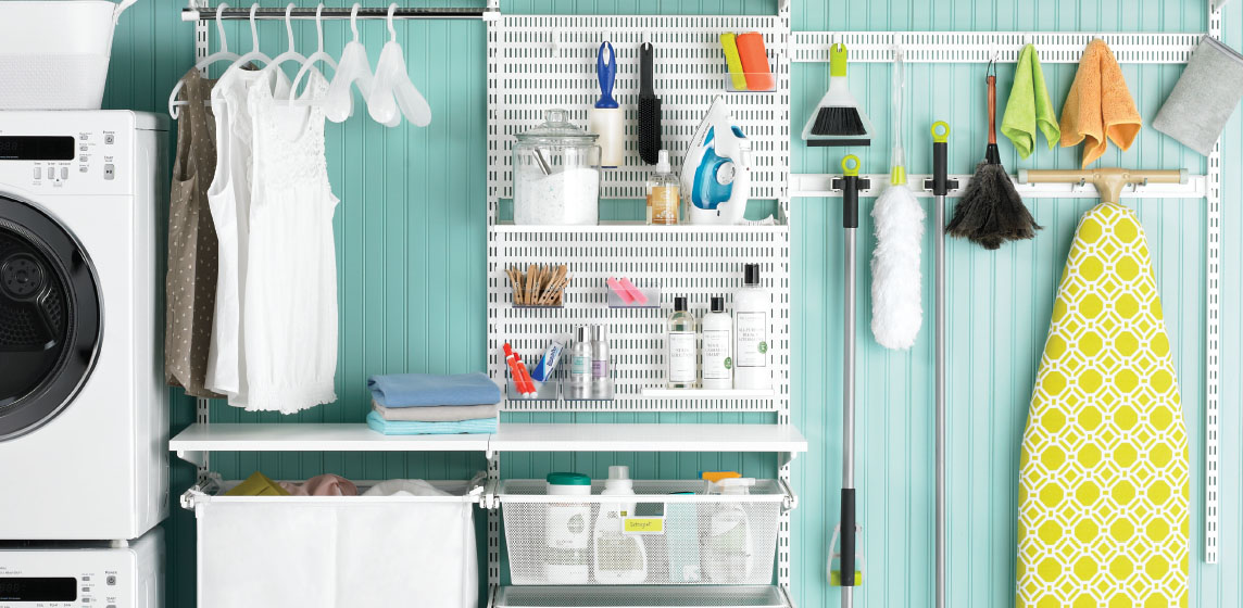 Laundry Room Shelving - Ideas for Laundry Shelving & Laundry Closet Designs