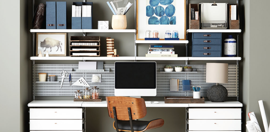 Office Shelving Amp Custom Desk Ideas Ideas For Desks