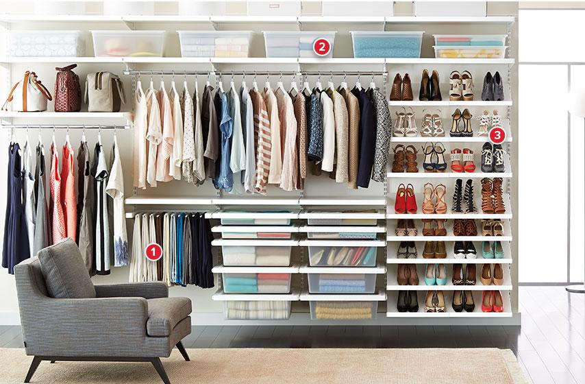 White Elfa Decor Deluxe Closet